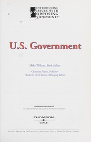 Cover of: U.S. government |