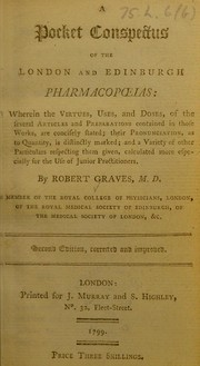Cover of: A pocket conspectus of the London and Edinburgh pharmacopoeias | Robert Graves