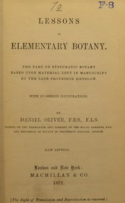 Cover of: Lessons in elementary botany