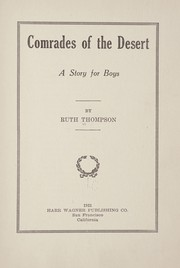Cover of: Comrades of the desert