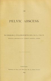 Cover of: On pelvic abscess