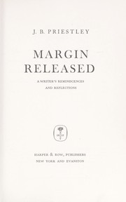 Margin released by J. B. Priestley