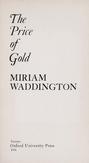 Cover of: The price of gold