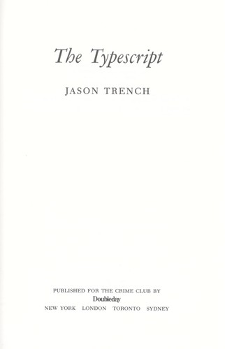 The typescript by Jason Trench