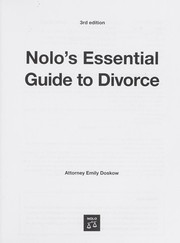 Cover of: Nolo's essential guide to divorce | Emily Doskow