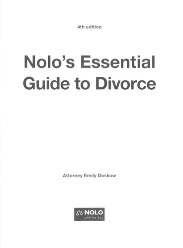 Nolo's essential guide to divorce by Emily Doskow