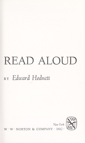 Poems to read aloud. by Edward Hodnett