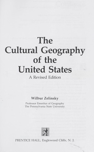 The cultural geography of the United States
