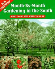 Cover of: Don Hastings' month-by-month gardening in the South