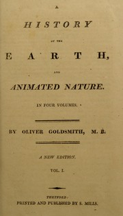 Cover of: A history of the earth, and animated nature