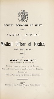 Cover of: [Report 1907]