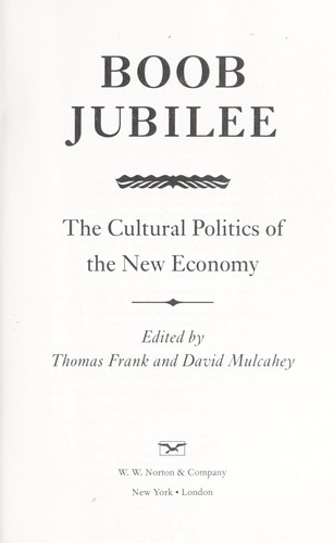 Boob jubilee : the cultural politics of the new economy by