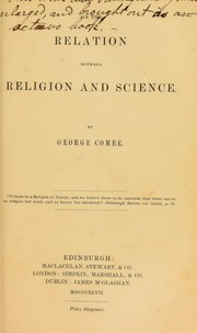 Cover of: On the relation between Religion and Science