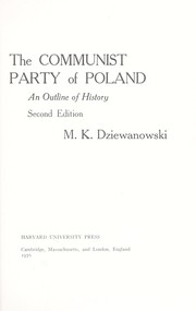 Cover of: The Communist Party of Poland