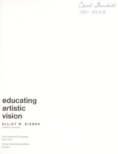Educating artistic vision