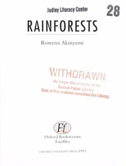 Cover of: Rainforests | Rowena Akinyemi