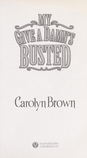 Cover of: My give a damn's busted