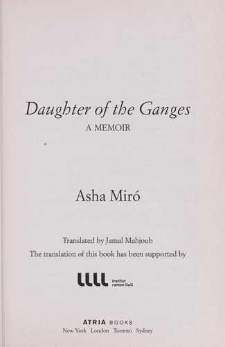 Daughter of the Ganges by Asha Miró