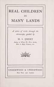 Cover of: Real children in many lands | Emery, M. S.