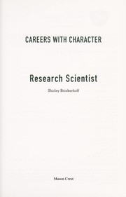Cover of: Research scientist | Shirley Brinkerhoff