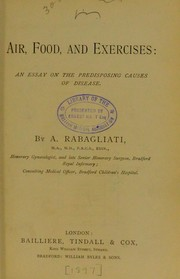Cover of: Air, food, and exercises | A. Rabagliati