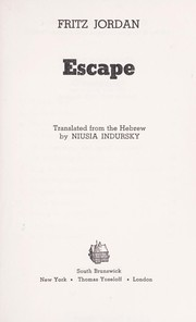 Cover of: Escape | Fritz Jordan