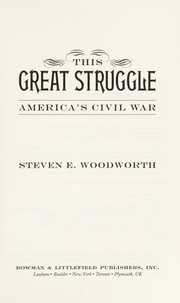 Cover of: This great struggle