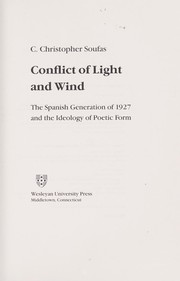 Cover of: Conflict of light and wind | C. Christopher Soufas