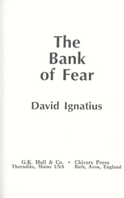 Cover of: The bank of fear: a novel