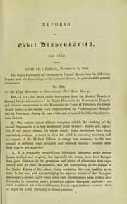 Cover of: Reports on civil dispensaries at the Presidency and in the provinces of Madras, during the year 1852 | Madras (India : Presidency). Medical Board