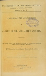 Cover of: A revision of the adult cestodes of cattle, sheep and allied animals ...