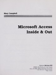 Cover of: Microsoft Access inside & out | Mary V. Campbell