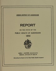 Cover of: [Report 1959] | Audenshaw (England). Urban District Council