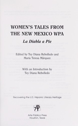 Women's tales from the New Mexico WPA by edited by Tey Diana Rebolledo and Maria Teresa Marquez