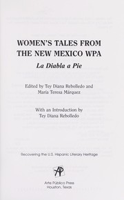 Cover of: Women's tales from the New Mexico WPA | edited by Tey Diana Rebolledo and Maria Teresa Marquez
