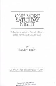 Cover of: One more Saturday night | Sandy Troy