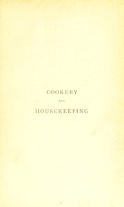 Cookery and housekeeping by Reeve, Henry Mrs.