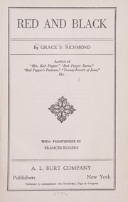 Cover of: Red and Black