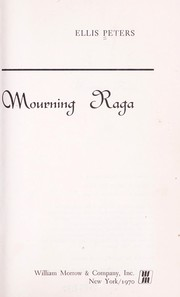 Cover of: Mourning raga