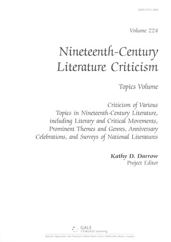 Nineteenth-century literature criticism by Kathy D. Darrow