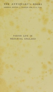 Cover of: Parish life in mediaeval England