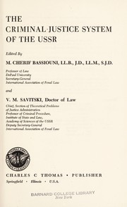 Cover of: The Criminal justice system of the USSR
