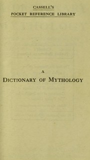 Cover of: A dictionary of mythology