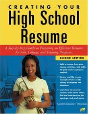 Cover of: Creating your high school resume