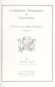 Confederate monuments at Gettysburg by Martin, David G.