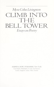 Cover of: Climb into the bell tower