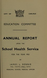 Cover of: [Report 1953]