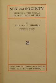 Cover of: Sex and society