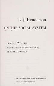 Cover of: On the social system