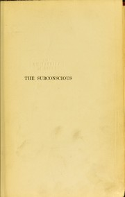 Cover of: The subconscious | J. Jastrow